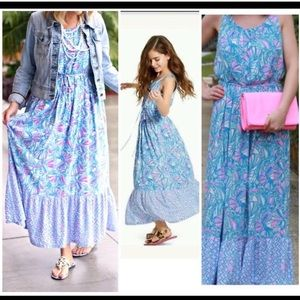 Lilly Pulitzer for Target Blue Seashell Maxi Dress